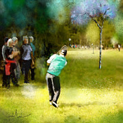 Sports Art Mixed Media - Golf Vivendi Trophy in France 02 by Miki De Goodaboom