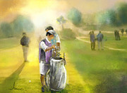 Sports Art Mixed Media - Golf Vivendi Trophy in France 03 by Miki De Goodaboom