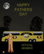 Golf  World Tour Scream Happy Fathers Day Print by Eric Kempson