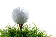 Golf Green Prints - Golfball Print by Kati Molin