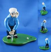 Small Statue Ceramics - Golfer by Bob Dann