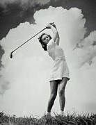 Swing Low Framed Prints - Golfing Gal Framed Print by Archive Holdings Inc.