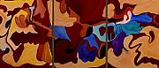 Abstract Brown Posters - Goliad - SOLD Poster by Paul Anderson