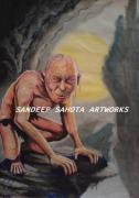 Jay Z Drawings Originals - Gollum by Sandeep Kumar Sahota