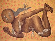 Venkat Raman Singh Shyam  Paintings - Gond Raja Avtaar by Venkat Raman Singh Shyam 