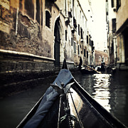 Gondolier Photo Framed Prints - gondola - Venice Framed Print by Joana Kruse