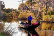 Kathleen K Parker - Gondola in City Park Lagoon New Orleans