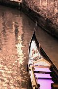 Gondola Ride Prints - Gondola In The Canal Venice Italy Print by Carson Ganci