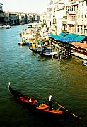 Sculling Prints - Gondola in Venice Italy Print by Michelle Calkins