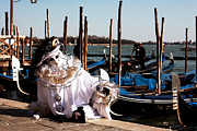 Venice Masks Prints - Gondola Model Print by John Rizzuto
