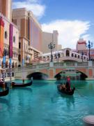 Water Filter Art - Gondola on the Canal by Ricky Barnard