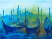 Gondolas Print by Khromykh Natalia