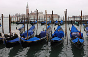 Venice Tour Prints - Gondolas The Grand Canal  Print by Bob Christopher