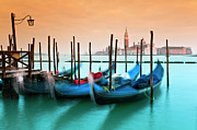 Light Photography Prints - Gondolas, Venice, Italy Print by Stefano Politi Markovina