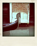 Gondolier Photo Framed Prints - Gondola.Venice.Italy Framed Print by Bernard Jaubert
