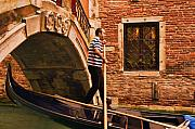Gondolier Digital Art Framed Prints - Gondolier Framed Print by Mick Burkey