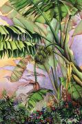 Art Medium Paintings - Gone Bananas by Mary Lucas Faustine - Printscapes