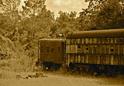Old Caboose Posters - Gone But Not Forgotten Poster by Carol  Bradley - Double B Photography