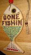 Day Pyrography Originals - Gone Fishin by Dakota Sage