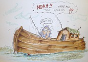 Noah Mixed Media Prints - Gone fishing Print by Paul Chestnutt