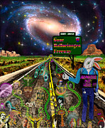 Bob Dylan Mixed Media - Gone Hallucinogen Highway by Myztico Campo