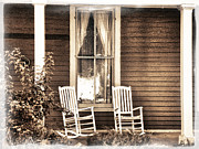 Rocking Chairs Digital Art Prints - Gone Print by Julie Palencia