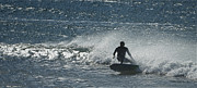 Beach Scenes Photos - Gone Surfing by Ernie Echols
