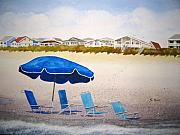 Sand Dunes Paintings - Gone to Lunch by Shirley Braithwaite Hunt
