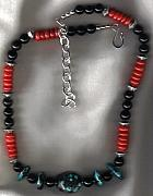 Buffalo Jewelry - Gone to new home TX Nat TQ Coral Obsidian  by White Buffalo