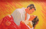 Clark Gable Framed Prints - Gone with the Wind Framed Print by Bob Gregory