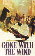 Motion Pictures Prints - Gone With The Wind Print by Nomad Art and  Design