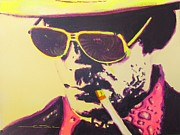 Celebrity Portraits Drawings Posters - Gonzo - Hunter S. Thompson Poster by Eric Dee