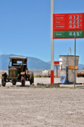 Gas Stations Prints - Good bye Death Valley - The End of the Desert Print by Christine Till