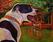 Pet Rescue By Judy Pastels Prints - Good Day on the Boat Print by D Renee Wilson