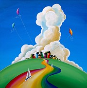 Rainbow Paintings - Good Day Sunshine by Cindy Thornton