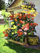 Floral Paintings - Good Earth Farm by David Lloyd Glover