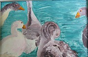 Geese Paintings - Good for the Goose by Neena Plant