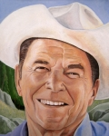 Cowboy Painting Originals - Good Guys Wear White Hats by Kenneth Kelsoe