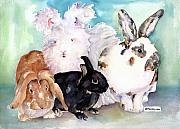 Painted Paintings - Good Hare Day by Pat Saunders-White