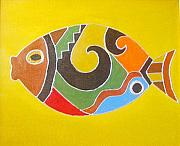 Xafira Mendonsa Prints - Good Luck Fish Print by Xafira Mendonsa