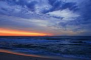 Seascapes - Good Morning - Jersey Shore by Angie McKenzie
