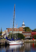 Historic Ship Framed Prints - Good Morning Annapolis Framed Print by Edward Kreis