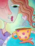 Espresso Paintings - Good Morning Coffee by Carla MacDiarmid
