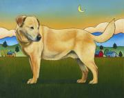 Golden Lab Paintings - Good Morning Hancho by Stacey Neumiller