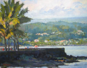 Plein Air Art - Good Morning Hilo by Robert Weiss