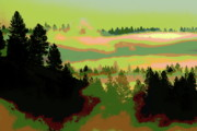 Morning Mist Images Digital Art Prints - Good Morning in Spokane Print by Ben Upham