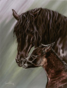 Horse Art Pastels Posters - Good Morning Poster by Kim EcElroy