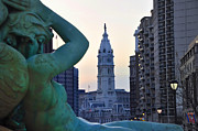 Hall Digital Art Prints - Good Morning Philadelphia Print by Bill Cannon