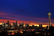 Seattle Skyline Framed Prints - Good Morning Seattle Framed Print by Benjamin Yeager
