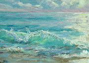 Cape Cod Paintings - Good Morning Surf by Barbara Hageman
